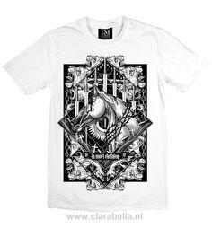 Swords And Horse - Black on White La Mort T-Shirt Swords and Horse - La Mort…