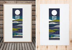 Kainuu Screen print designed and hand printed by Sanna Annukka. Limited edition of 40 only. Paper size 50 x Signed and numbered by artist. Print is sold unframed. Summer Drawings, Print Design, Graphic Design, When I Grow Up, Printmaking, Screen Printing, Kids Rugs, Illustrations, Illustration Art