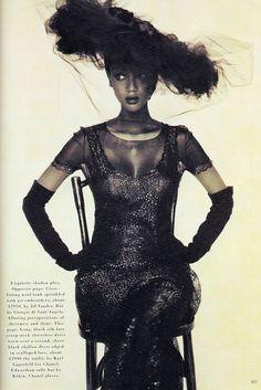 November 1992 Tyra Banks for Harper's Bazaar