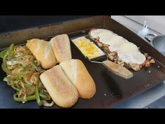 Philly Chicken CheeseSteak Blackstone 22inch griddle Barbeclette *Cookingwithfriends Edition - YouTube Chicken Philly Cheesesteak, Cheesesteak Recipe, Steak Sandwich Recipes, Grilled Chicken Recipes, Sandwich Bar, Top Recipes, Cooking Recipes, Healthy Grilling Recipes, Cooking Videos