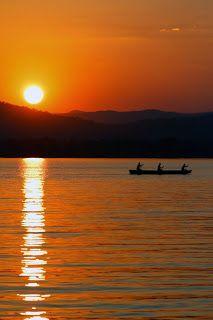 Why not?: Sunset above Kariba Lake