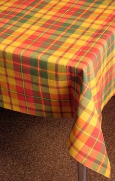 Linen Tablecloth Checked Valentines Day Mother's by Initasworks
