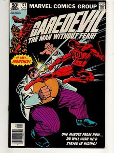 from $24.99 - Daredevil #171 Nm 9.4 Kingpin V Daredevil! Frank Miller Black Cover Hi-grade 158