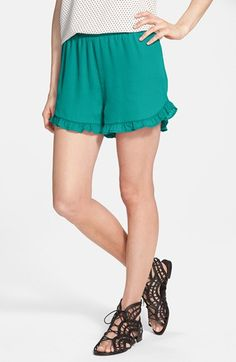 Soprano Ruffle Trim Shorts (Juniors) available at #Nordstrom