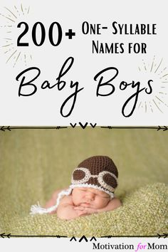 This list has over 200 ideas for one syllable boy names that are short and sweet and easy to fall in love with. Some of these are common baby boy names, and some of these are unique baby boy names. Whether you are looking for nicknames, or middle names, or just first names for your baby boy, this list will give you plenty of ideas for baby boy names! Sweet Baby Boy Names, Unique Baby Boy Names, One Syllable Boy Names, Short Boy Names, Gender Neutral Names, Potty Training Tips, Mummy Bloggers, Baby Essentials, Parenting Hacks