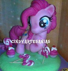 adorno torta my litlle pony pinkie pie porcelana fria 20 cm