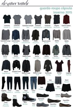 O que ficou no meu guarda-roupa cápsula Wardrobe Basics, Capsule Wardrobe, Gray Shirt Outfit, Hipsters, Capsule Outfits, Fashion Outfits, Womens Fashion, Fashion Tips, Casual Chic Style