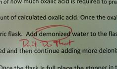 """Haha it's meant to say """"deionised water"""""""