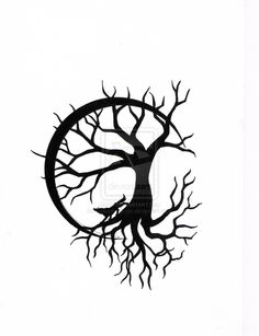 Tree of Life with Wolf Design by CalamityMoon.deviantart.com on @deviantART