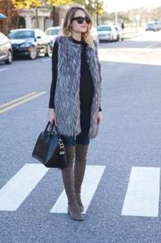 Little Blonde Book by Taylor Morgan   A Life and Style Blog : Faux Fur Vest