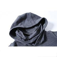 JOZSI Leisure Hooded Cashmere Sports Hoodies Sweatshirts at Banggood Sports Hoodies, Fashion Seasons, Sport Casual, High Collar, Cashmere Sweaters, Black Hoodie, Hoods, Sweatshirts, Fashion Hoodies