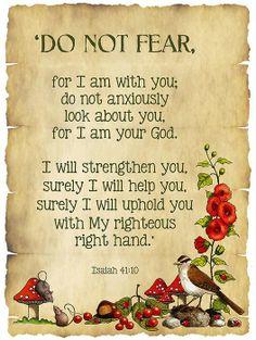 Will you give God your fears? Visit us -> http://makingitinthefastlane.blogspot.com/