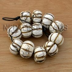 BSS17A Tibetan Nepalese Conch Shell 5'' Beads Strand for Jewelry Making