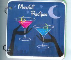 Martini Recipe Book - cover is actually a clip art image