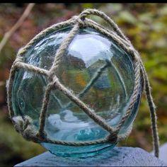 Vintage sea glass globes