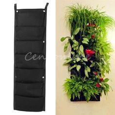 7Pocket Indoor Outdoor Wall Herbs Vertical Garden Hanging Planter Fabric Bags  $8.00