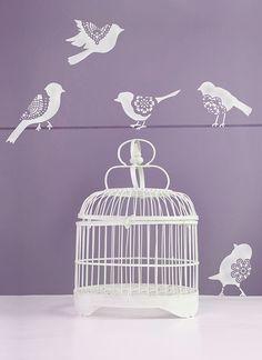 Lace Bird Stencil Set | Royal Design Studio