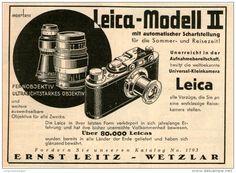 Original-Werbung/Inserat/ Anzeige 1932 - LEITZ LEICA MODEL II - ca. 100 X 140 mm