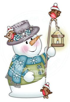 Items similar to Digi Stamp 'Chilly with Lamp' Snowman.Makes Cute Christmas Cards on Etsy Cute Christmas Cards, Christmas Rock, Christmas Pictures, Christmas Snowman, Christmas Crafts, Cute Snowman, Snowman Crafts, Snowmen, Christmas Drawing