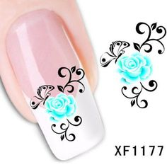 Nail Art Water Sticker Nails Beauty Wraps Foil by HighClassNailsss