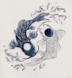 Love this ying yang fish design, want this as a tattoo