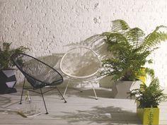 RHODE YELLOW Fibreglass Medium yellow fibreglass window box planter - HabitatUK