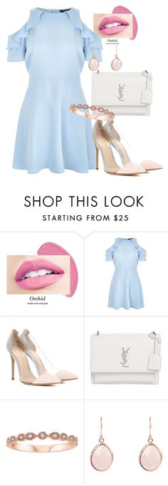 """""""Untitled #502"""" by dreamer3108 on Polyvore featuring New Look, Gianvito Rossi and Yves Saint Laurent"""