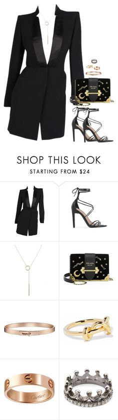 """high"" by ohsnapitzblanca ❤ liked on Polyvore featuring Alexander McQueen, Public Desire, Humble Chic, Prada, Elizabeth and James, Cartier, Loree Rodkin, StreetStyle and NightOut"