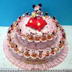 """Torta Bomboniera con Topolino e Paperino Baby Walt Disney. Torte Bomboniere fornite da """"Ore Liete - La Bomboniera Italiana"""""""
