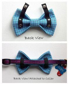 Dog Bow Tie Dog Bow Chevron Dog Collar Accessory by ZoZosPaw