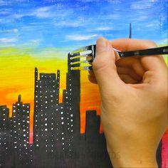Arte com giz de cera Oil Pastel Drawings Easy, Oil Pastel Paintings, Oil Pastel Art, Oil Pastels, Oil Pastel Crayons, Art Drawings For Kids, Pencil Art Drawings, Drawing Ideas, Canvas Painting Tutorials