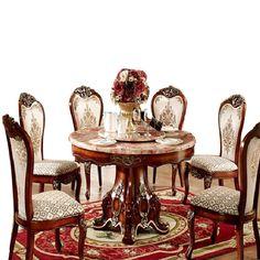 Encontre mais Conjuntos para Sala de Jantar Informações sobre Madeira americano mesa de jantar redonda de mármore mesa de jantar Continental madeira em um grande mesa redonda e cadeiras pacotes, de alta qualidade embalagens para unha polonês, exercícios cadeira China Fornecedores, Barato pés da cadeira de royalty sofa em Aliexpress.com