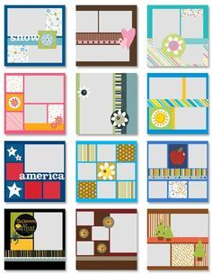 Simple Scrapbooking Ideas Would make great calendar pages!