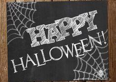 happy halloween chalkboard art printable by katesprintables, $3.00