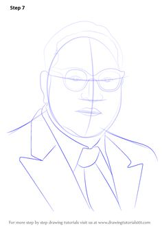 Learn How to Draw Babasaheb Ambedkar (Politicians) Step by Step : Drawing Tutorials Girly Drawings, Pencil Drawings, Art Drawings, Learn Drawing, Learn To Draw, Temple Run 2, B R Ambedkar, Buddha Drawing, Necklines For Dresses