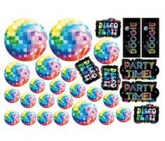 Disco Fever Mega Value Cutouts 30 pieces 30 per package Disco Party, 70s Party, Party Time, Saturday Night Fever, Birthday Party Decorations, Birthday Parties, Mega Pack, Party Supplies, Card Stock