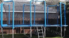 9x16 Rectangle Trampoline with Enclosure*** best for tumbling