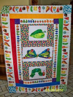 The Very Hungry Caterpillar quilt  made for grandson, Nash  (2010)