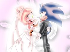 I see my future in your eyes by Eshi90 Sonic Boom Amy, Sonamy Comic, Shadow And Amy, Sonic Franchise, Sonic Fan Characters, Amy Rose, Sonic Art, Beautiful Drawings, Step By Step Drawing