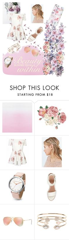 """""""🌸🌱🌸🌱🌸"""" by julianna-dl ❤ liked on Polyvore featuring Designers Guild, Urban Outfitters, BEA, Ray-Ban, Accessorize and Casetify"""