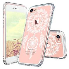 iPhone 7 Case, iPhone 7 Cover, MOSNOVO White Henna Mandala Dream Catcher Clear Design Protective Case with TPU Bumper and Hard Back Scratch Resistant Case Cover for iPhone 7 (2016). [Compatible with Apple iPhone 7] PREMIUM PROTECTION - featuring two layers of protection: a shock-absorbing [TPU] frame that protects against drops, and a solid [PC] back plate that protects against scrapes, bumps and more. ULTRA-CLEAR - slim, transparent protective bumper case body reveals and enhances the...