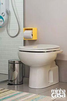 Porta papel higiênico amarelo
