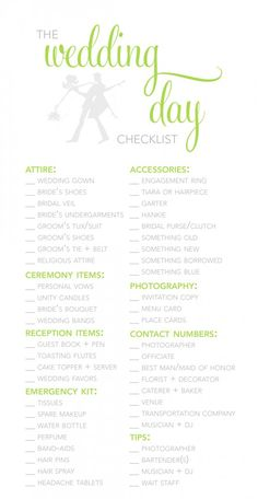 Wedding Budget Checklist  BB Wedding Ideas