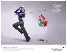 burjuman luxury shopping mall ads - If you're filthy rich, fashion sure is for the taking! These Burjuman Luxury Shopping Mall ads confirm the ease at which one can acquire splendid s. Visual Advertising, Fashion Advertising, Creative Advertising, Advertising Design, Fish Fashion, Bold Fashion, Christmas Campaign, Ads Creative, Creative Posters
