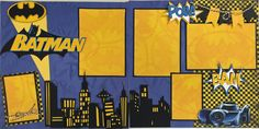 Batman Scrapbook Page Layout -- Boys