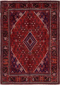 """Red Joshaghan Area Rug at $974 for 7'5""""x10'6"""". Good deal."""