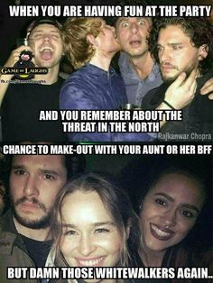 Poor Jon Snow, can never have any fun...unless he's on a boat w/ his aunt