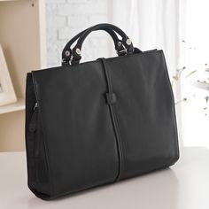 Have to have it. Ladies Leather Briefcase with Removable Handle by Winn International $128.99