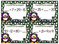 La classe de Karine: Cartes à tâches de Noël Math Stations, Math Centers, Math Quotes, French Teaching Resources, Montessori Math, Math School, Math Multiplication, 3rd Grade Math, Grade 3