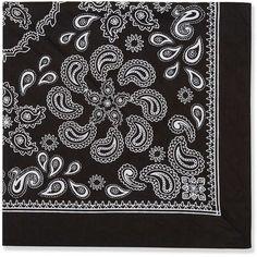 TopShop Monochrome Print Neckerchief ($7.01) via Polyvore featuring accessories, black and topshop